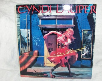 Vintage Retro Cyndi Lauper Album Cover Picture Frame Rock n Roll She's So Unusual
