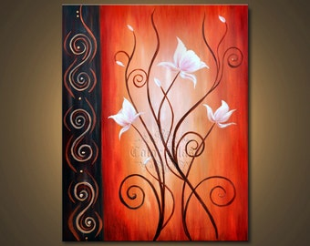 WHITE BLOOMS- Mounted Print. Free Shipping. Ready to be displayed.