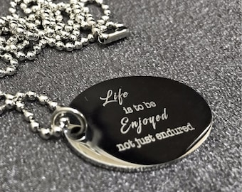 Engraved Necklaces Oval Locket (RE 27)