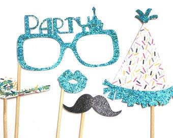 Photo Booth Props - Happy Birthday Mini Set Party 5PC