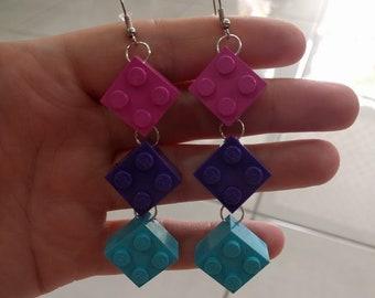 2X2 LEGO Earrings