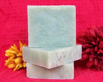 Green Apple Soap Granny Smith Apple Cold Processed Soap Vegan Soap