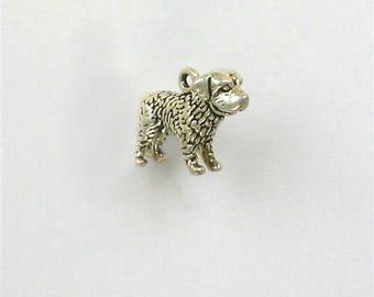Sterling Silver 3-D Saint Bernard Dog Charm