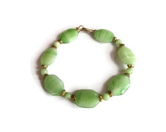 Art deco bracelet, green bracelet her, green bridal jewelry, art deco jewelry, deco wedding jewelry, vintage jewelry for her, birthday gift