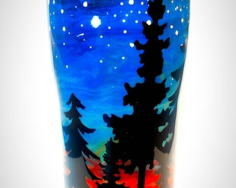 Camping * Rv * Tumbler * Custom * Glamping * Forrest * Outdoors *Nature * Woods * Sunset * Stars * Shooting Stars * Great Outdoors * Coffee