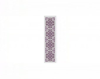 2 Patterns for 1 Price - Green and Purple Tapestry Cuff Bracelets - Loom or 5 Drop Odd Peyote Bead Pattern