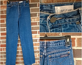 1970s Calvin Klein High Waisted Straight Leg Jeans, 6