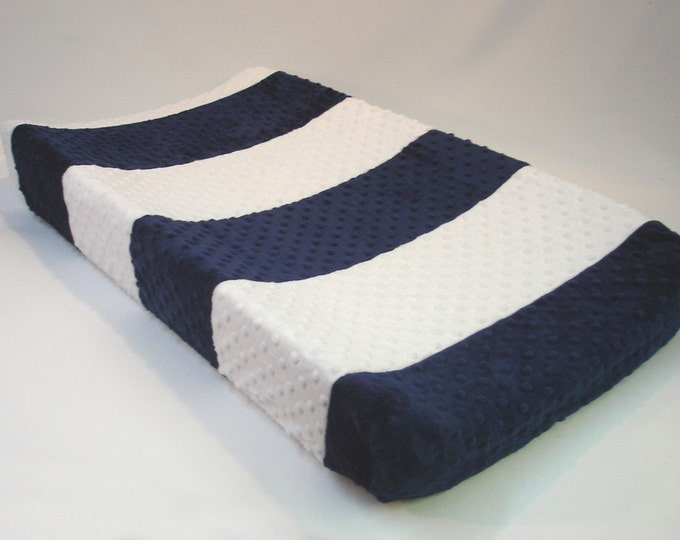 Two Tone Stripe Changing Pad Cover