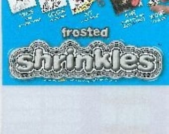 Shrink Art -Frosted Shrinkies Plastic Sheets- Large Size 262 x 202 mm- 6 in pack