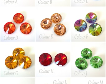 2 pcs 16mm round crystals cabochons - Pointed back round crystals cabs - Round crystals for bead bezel