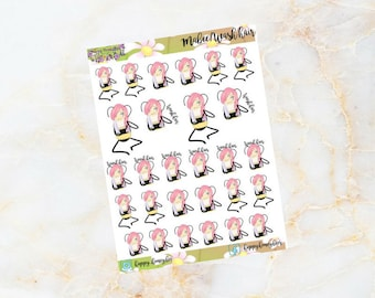 MABEE: Hair wash. Stickers for your planner