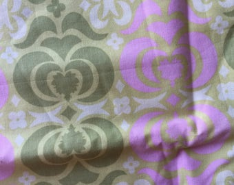 Amy Butler Midwest Modern Pink & Lime Wallpaper Flowers Fat Quarter Quilt Fabric Sewing Fabric Retro Fabric