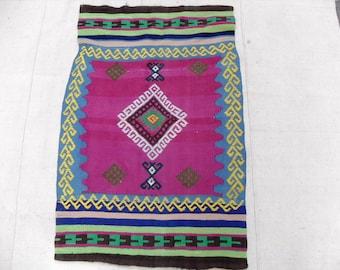 kilim rug free shipping VINTAGE TURKİSH oerlon kilim  Anatolian Rug handwoven kilim decorative kilim SİZE -  26 '' X  40 ''( 65 cm X 100 cm)