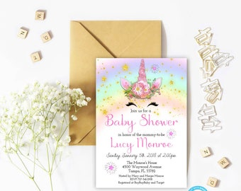 Unicorn baby shower invitation etsy unicorn baby shower invitation unicorn baby shower template unicorn face invitation baby shower filmwisefo Choice Image