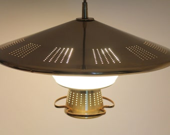 retractable lighting. 1960s BRASS PLATED SAUCER Pull Down Chandelier 4 Lights Retractable From Imperialite Vintage Mid Century Retro Lighting
