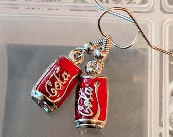 Red Coca Cola Earrings