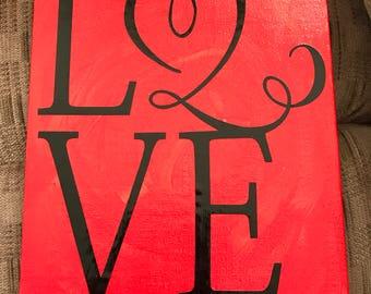 Love Canvas Decor