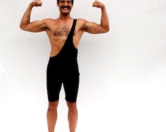 Strongman Ready To Ship Costume Wrestling Singlet Mens Black