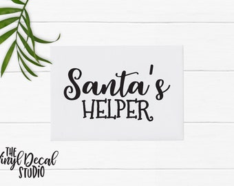 Santa's helper, Santa's elves, Christmas Santa Helper Elves - Vinyl Decal - Coffee Mug Decal Wine Glass Decal Tumbler Decal Window Decal