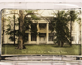 Paperweight with Picture of Hermitage Home of Andrew Jackson