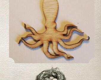 Octopus Wood Cut Out - Laser Cut