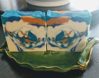 Golden Sands ~ Cold Process Artisan Soap ~ Shea Butter