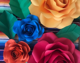Paper Flower Rose Backdrop for Fiesta, Wedding, Wedding Shower, Baby Shower