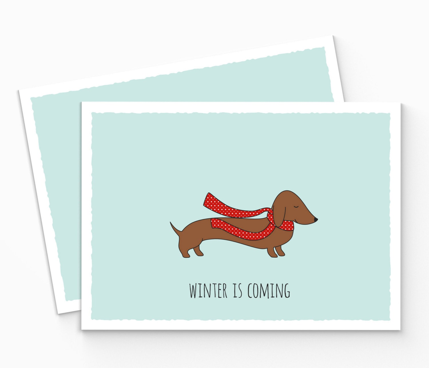 Printable winter is coming greeting card printable dachshund zoom kristyandbryce Image collections