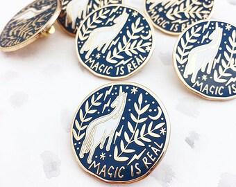 Magic is Real Enamel Lapel Pin