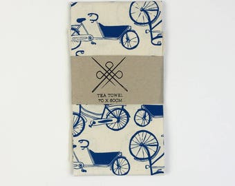 Tea towel Bicycle: Blue