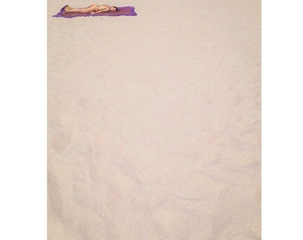 """Santa Monica Art Surfer Girl Ocean Surf California Beach 11""""X14"""" Print"""