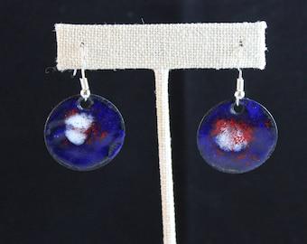 Enameled Copper Earrings (041917-025)
