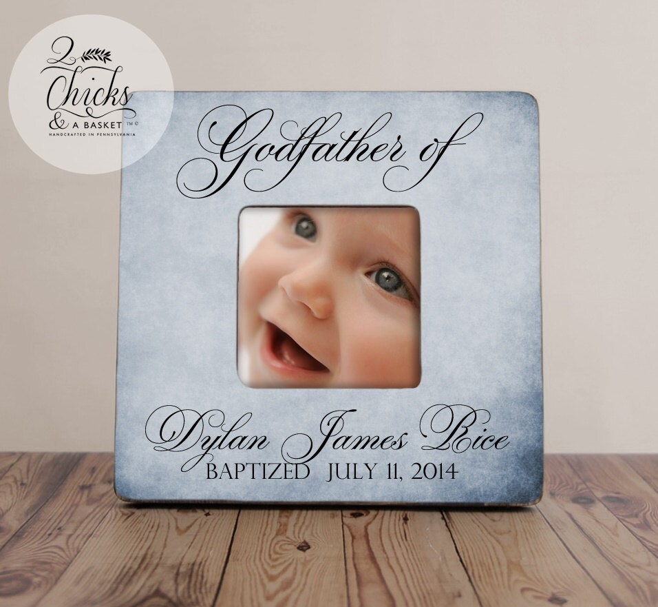 Godfather gift personalized baptism picture frame godparent gift 2195 jeuxipadfo Image collections
