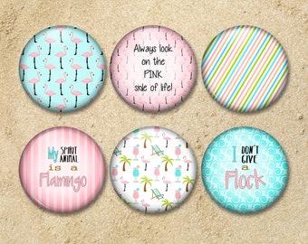 Flamingo Magnets, Flamingo Gift, Beach Lover Gift, Office Decor, Refrigerator Magnets, Decorative Magnets, Handmade Magnet, Flamingo Decor