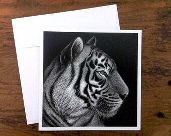 Tiger 'Panji' - Greeting card 12.5cm x 12.5cm