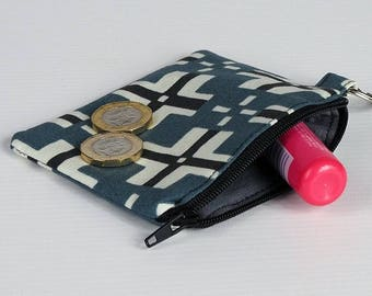 Small coin purse/ change purse/ zipper pouch/ credit card purse/ keychain coin purse/ gifts for her/ free UK p&p