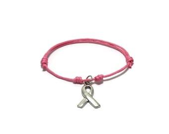 Cancer Awareness Bracelet, Cancer Bracelet, Breast Cancer, Pancreas Cancer, Childhood Cancer, Cancer Ribbon, Cancer Fighter, Cancer Survivor