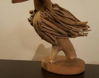 Sculpture en bois flotté,art en bois flotté,sculpture sur bois,décor bois plage,décoration bois flotté,art en bois flotté,moderne,art déco