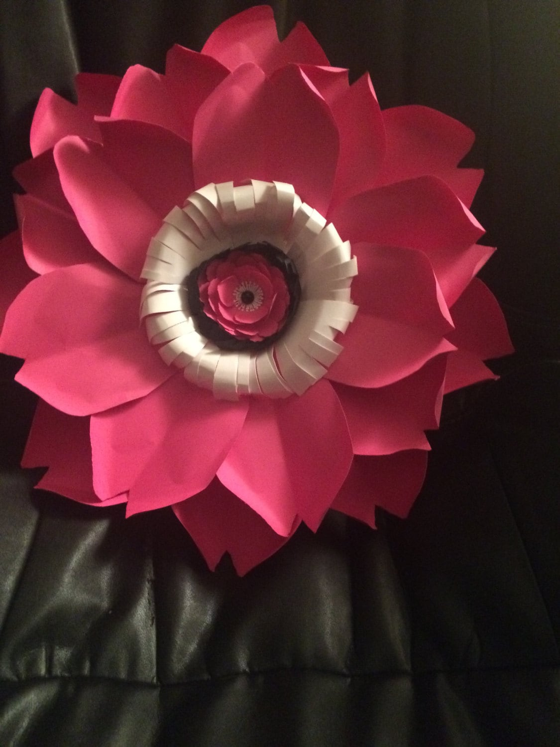 Giant Pink Paper Poppy Set Of 5 22 24 Inch