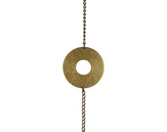 Brass Circle Bracelet