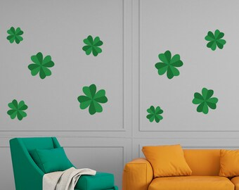 4 Leaf Clover St. Patrick's Day Wall Sticker