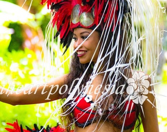 Tahitian dance head piece KU'UIPO