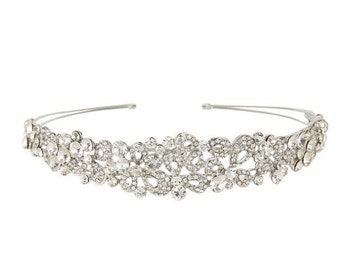 Bridal Headpiece, Bridal Headband, Wedding Headpiece, Wedding Headband, Crystal Headband, Hair Accessories, Bridal Tiara, Silver Headband