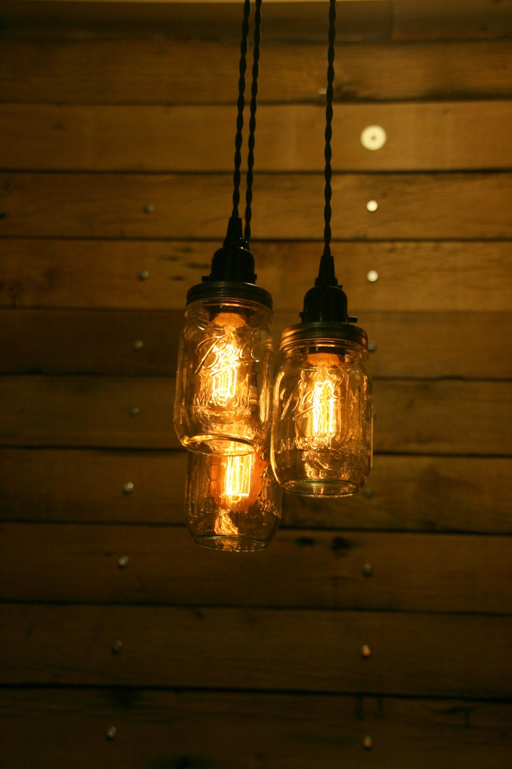On sale 3 pint jar pendant light mason jar chandelier light zoom arubaitofo Gallery