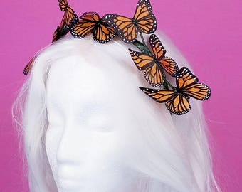 Butterfly Crown Monarch Butterflies Vegan