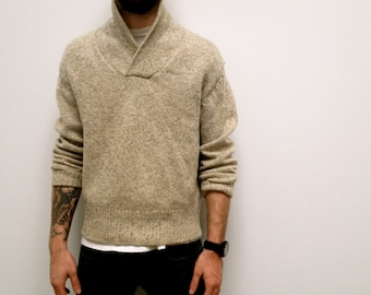 Mens Vintage Ski Sweater