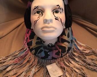 Signed Dyan Nelson 1985 Decorative Art Native American Female Wall Mask Stunning