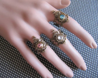 Jewelry, Boho Rings, Gypsy Rings, Bohemian Rings, Birthstone Rings, Knuckle Midi Rings, Filigree Rings, Boho Jewelry, Womens Rings