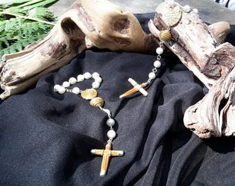 Mystery Vegetal Gold/Golden Grass rosary Beads/Capim Dourado Brasil/golden Cross/Boho Chic/Golden herb/Original Rosary