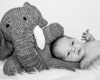 Knitted elephant stuffed animal